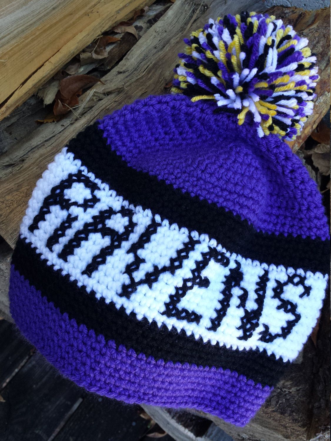 Baltimore Ravens hat, Ravens beanie, crochet NFL hat, crochet winter ...