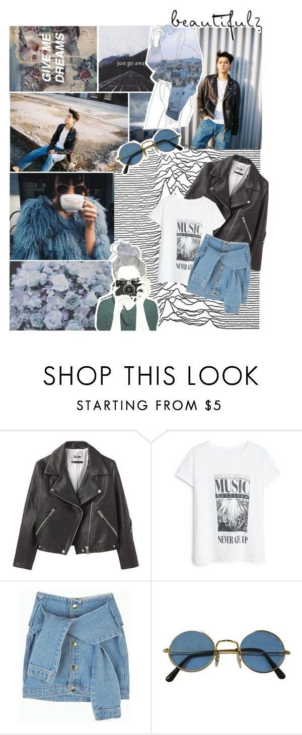 """go away dreams"" by the-neon-rose on Polyvore featuring Acne Studios, MANGO and btspolyvorearmy"