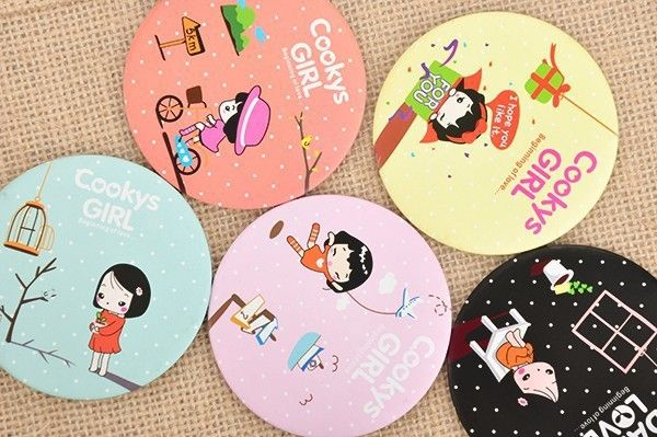 New10pcslotcartoon Girl Mirror Baby Shower Return Gifts Favors