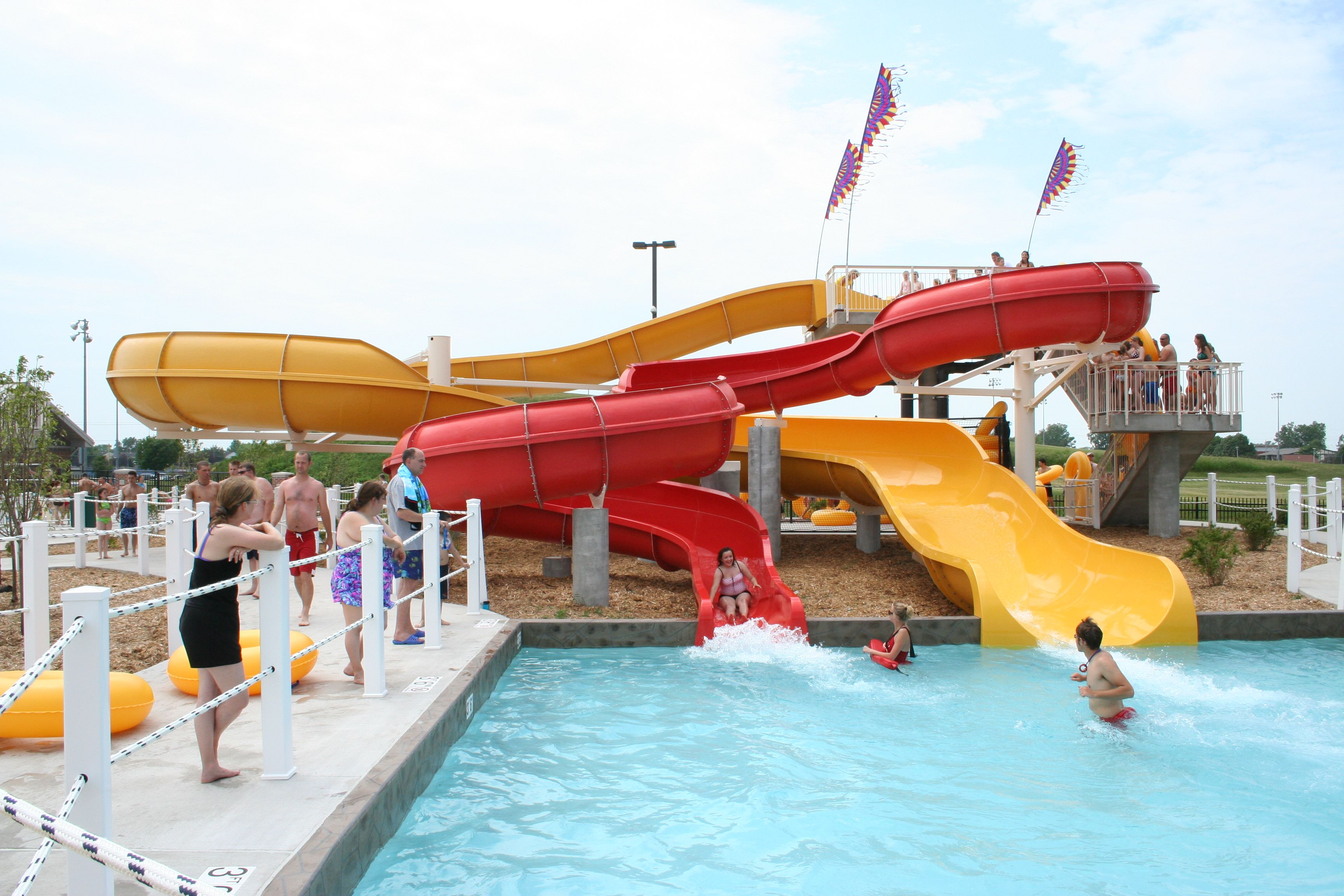 Hot Tub Covers Oshkosh >> Water slide fun! Oshkosh, WI. | Family Fun in Oshkosh | Pinterest | Water slides, Water parks ...