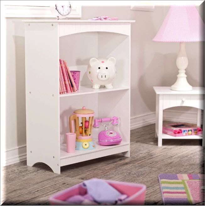 Bookcase Shelves White 2 Shelf Kids Room Storage Organizer Furniture Modern  | EBay