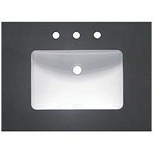 Fairmont Designs TQ-S3022GR8 30-Inch Rectangular Quartz Vanity Top with Eased Edge in Deep Gray