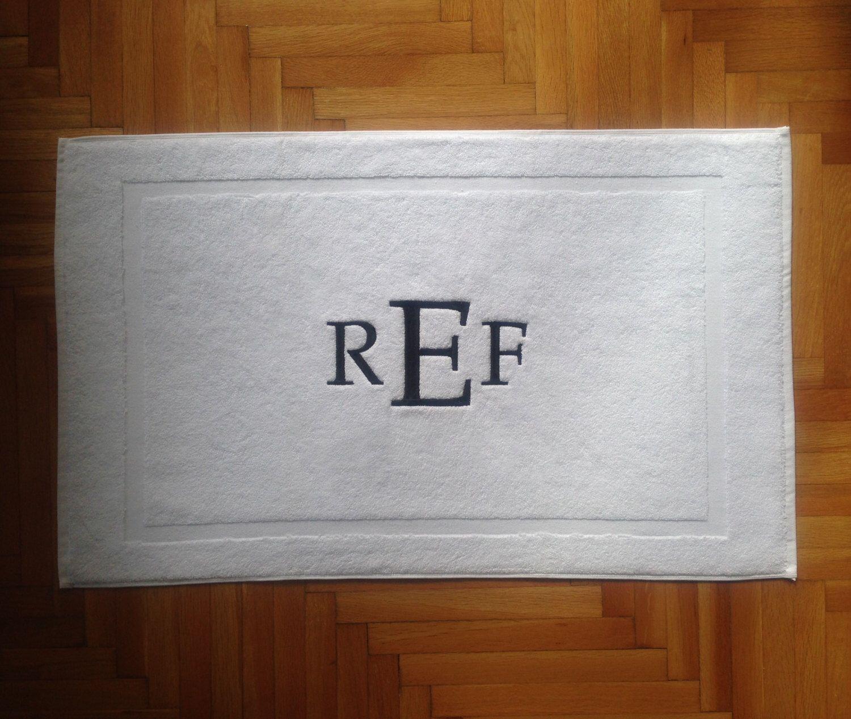 Monogrammed Bathroom Rugs