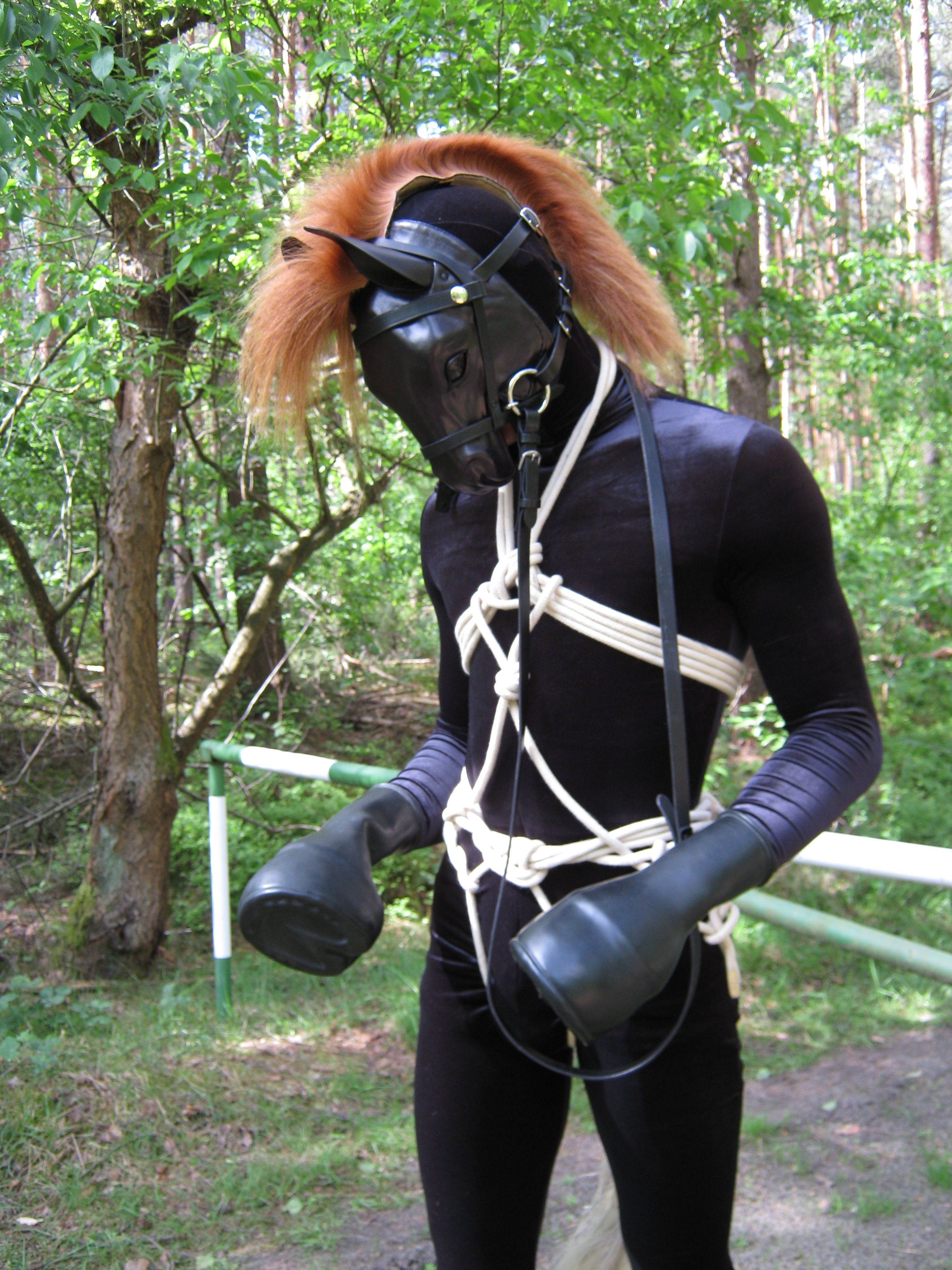 Human Ponyplay Hidden Deep Riding Helmets Horse