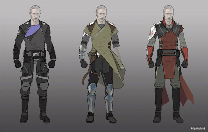 Star Wars Outfit Concept Art