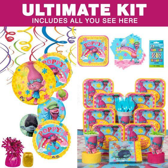 Trolls Ultimate Tableware Kit (Serves 8)