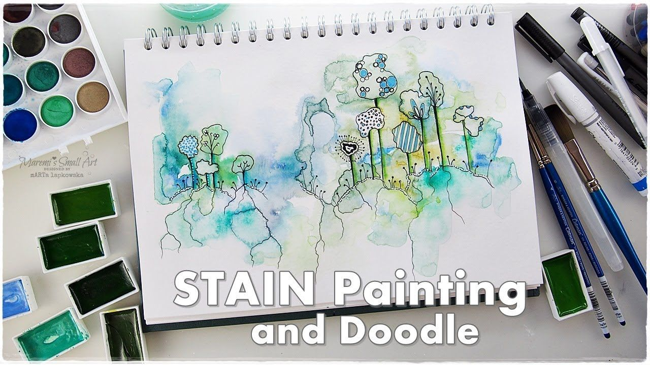 Watercolor Stain Doodle Beginners Technique Maremi S Small Art