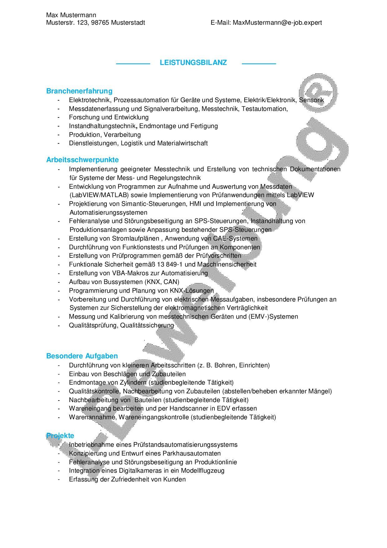 Beispiele Und Muster Fur Ein Qualifikationsprofil Bewerbung Anschreiben Profil