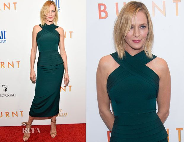 Uma Thurman In Brandon Maxwell attended the - 'Burnt' New York Premiere at the Museum of Modern Art in New York City on Tuesday (20-10-15)