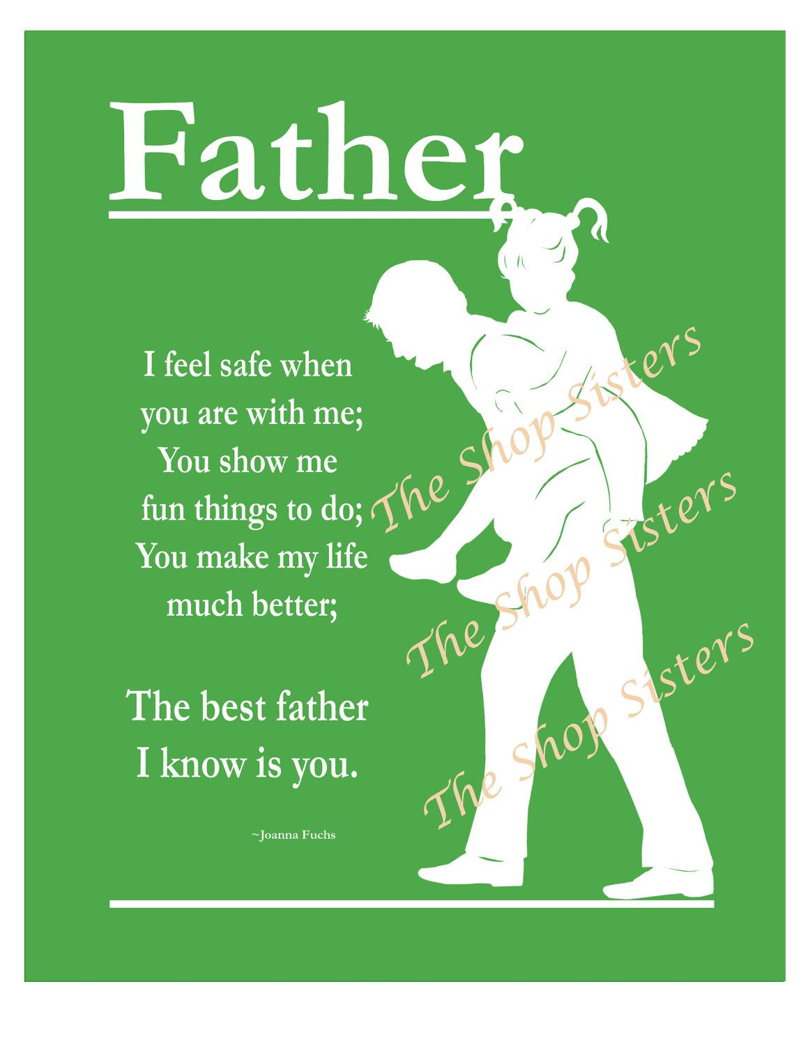 Funny fathers day messages from daughter events pinterest father daughter fathers day poem dad silhouette by theshopsisters kristyandbryce Images