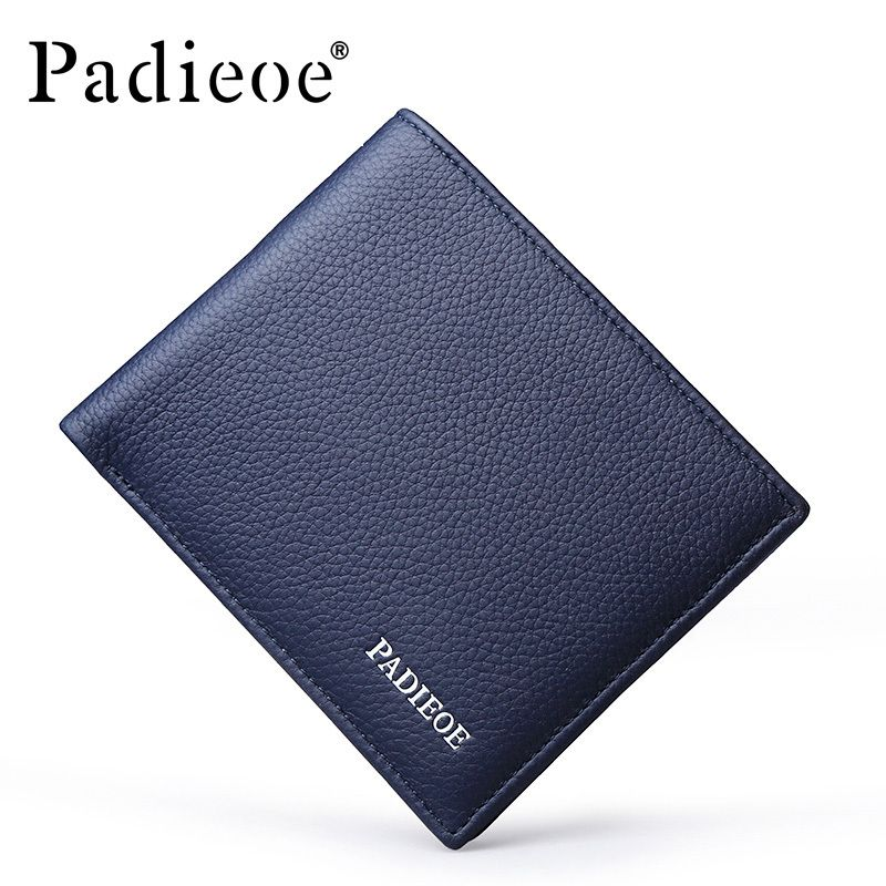 Padieoe Mens Wallets Famous Brand Short Wallet Man Homemade Male ...