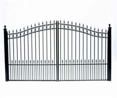 Prague Dual Swing Iron Driveway Gate 12 X 6 3 Wrought Iron Driveway Gates Driveway Gate Iron Gate Design