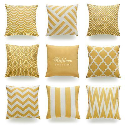 Decorative Throw Pillow Case Mustard Yellow Heavy Weight Fabric Cushion Cover View More On The Yellow Throw Pillows Yellow Pillows Decorative Pillow Cases