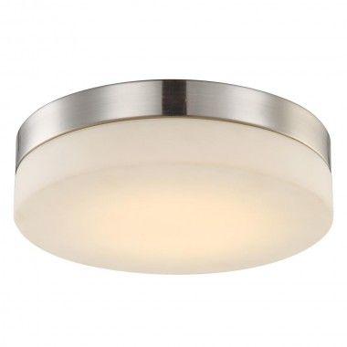 LED 18 Watt Deckenleuchte Nickel Glas Deckenlampe Beleuchtung Wohnzimmer Globo 41718 Lampen Licht Innenleuchten Deckenleuchten