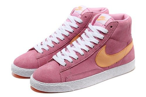 the latest aa4d0 38bdc Cheap 511486 681 Nike Blazer MID suede pink orange women shoes