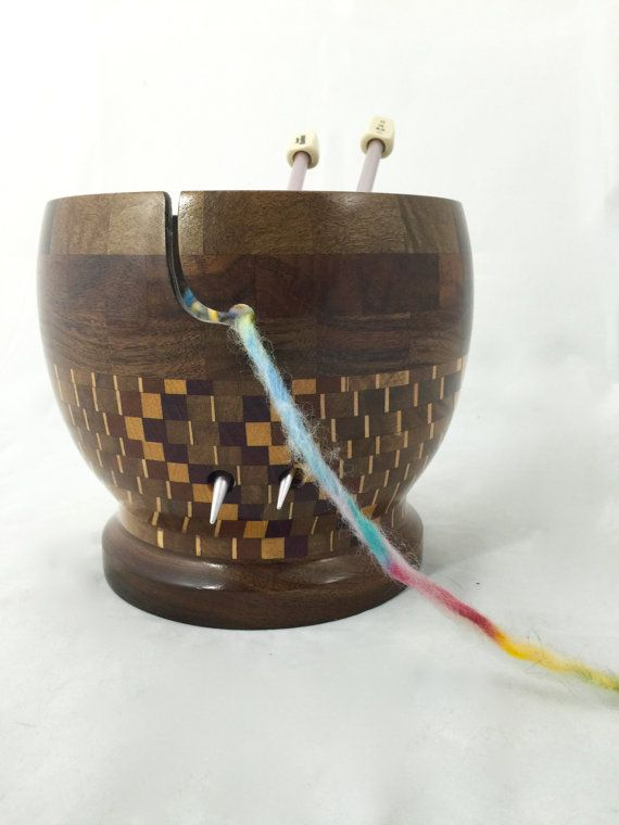 Dizzy Yarn Bowl KB102 by Salswoodturning on Etsy