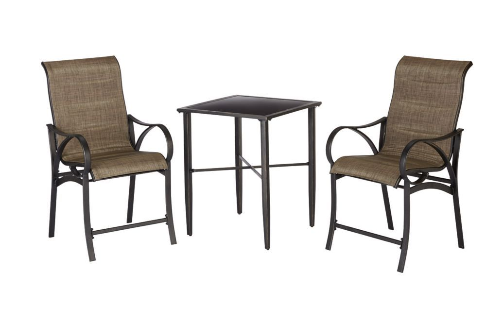 hampton bay valley stream 3-piece high bistro | home ideas