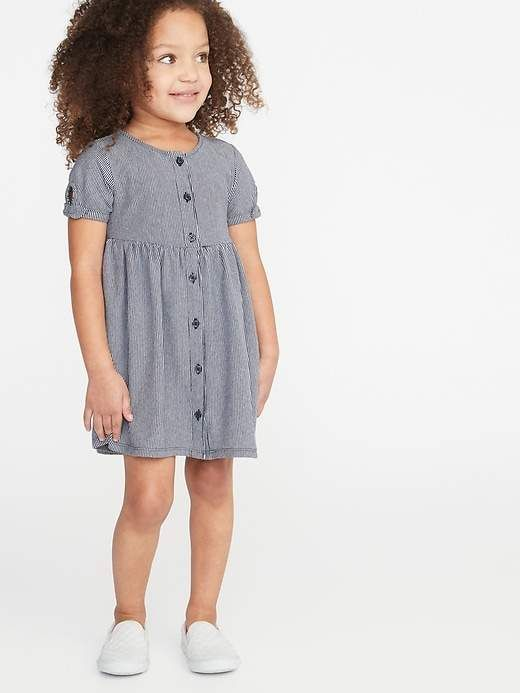 b70bfea05adb Old Navy Printed Fit & Flare Button-Front Dress for Toddler Girls in ...