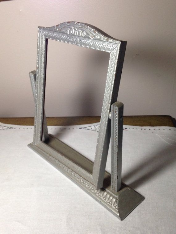 Stunning Silver Wooden Picture Frame on Stand Swivel 1930s 40s ...