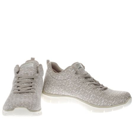 womens skechers natural empire connections trainers