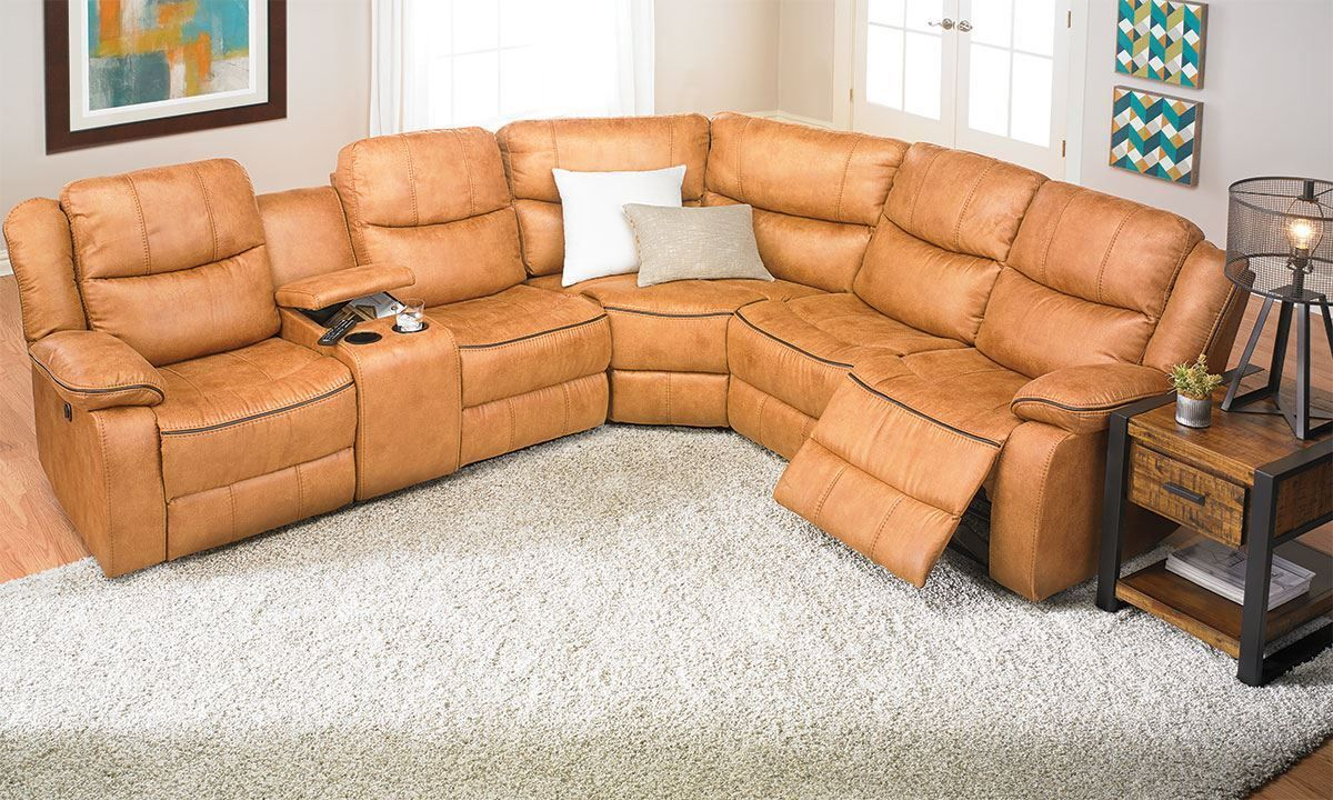Dual Power Reclining Storage Sectional Luxury Seating Luxe Furniture Power Recliners #two #recliners #in #living #room