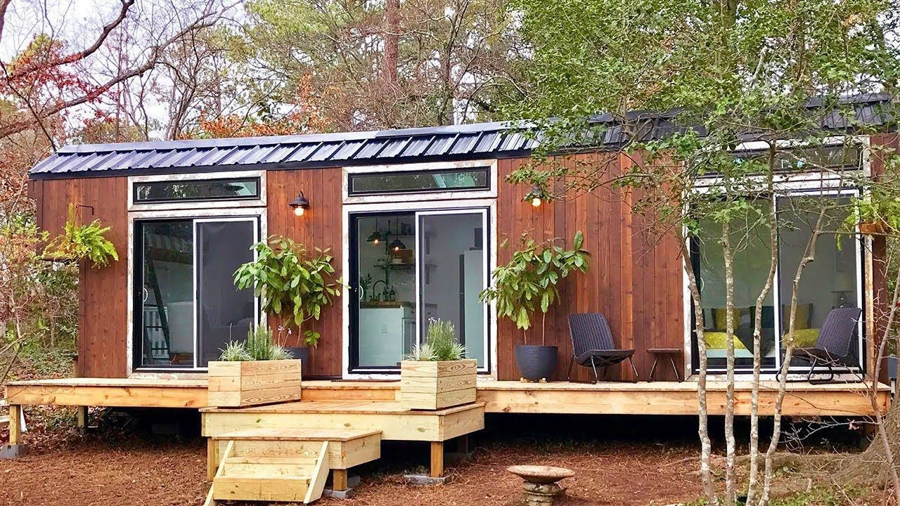 Gorgeous Modern And Rustic Tiny Home Was Designed And