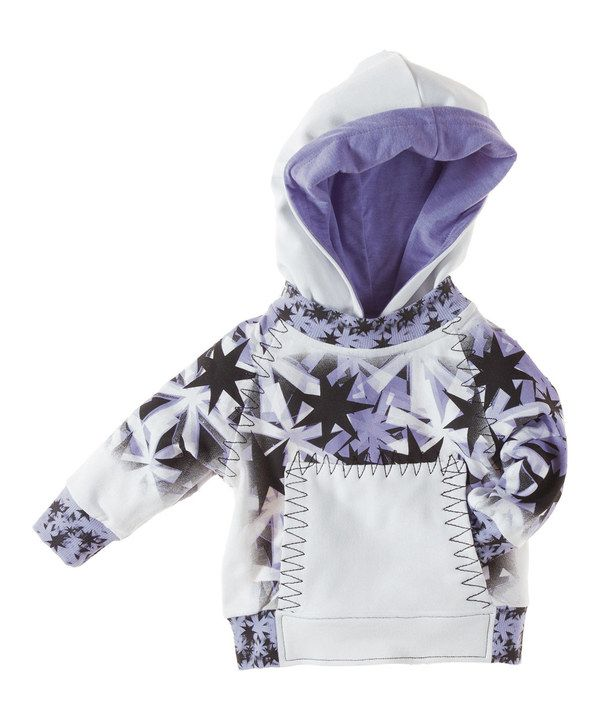Look at this #zulilyfind! Vicious Wear White & Lilac Snowflakes Organic Pullover Hoodie - Infant by Vicious Wear #zulilyfinds