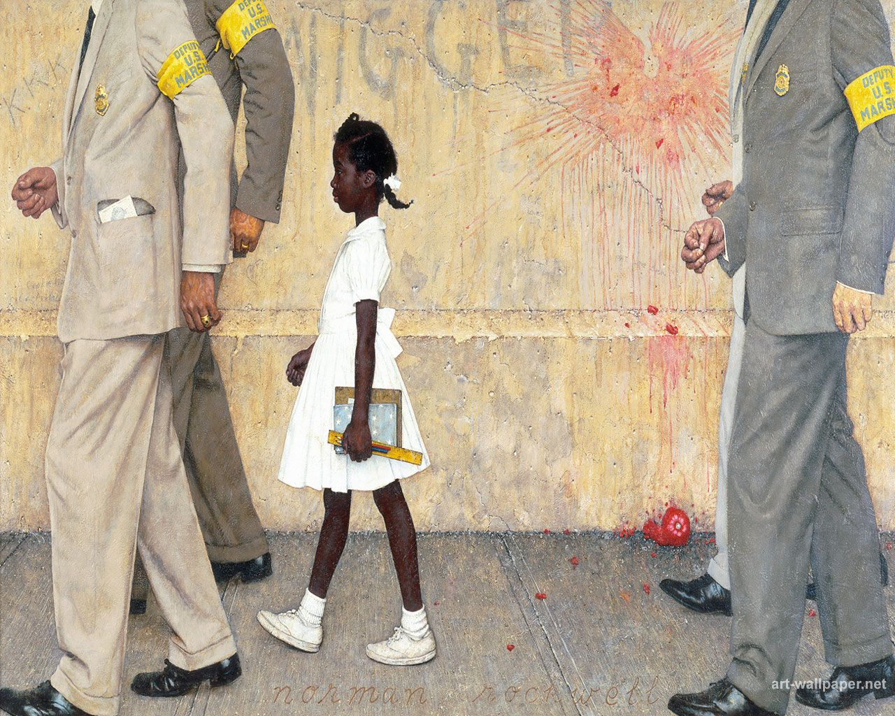 Norman Rockwell Painting Of Ruby Bridges Me Pinterest