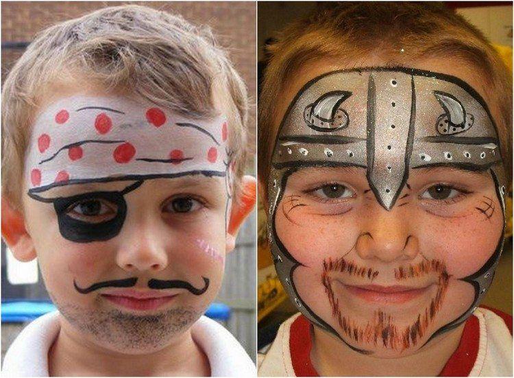 pirat und wikinger schminkideen f r kinder zu halloween kinderschminken pinterest kinder. Black Bedroom Furniture Sets. Home Design Ideas