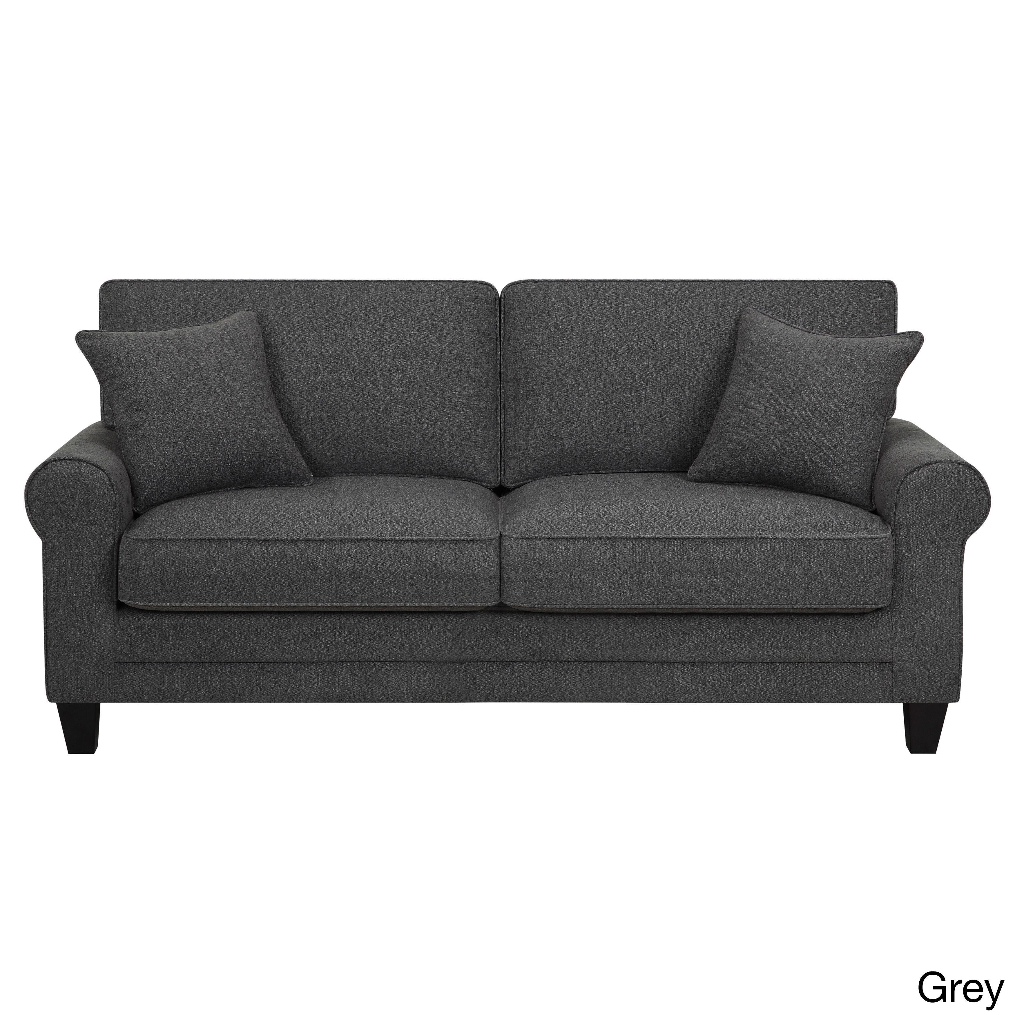 Microfiber 73 Inch Deep Seating Sofa