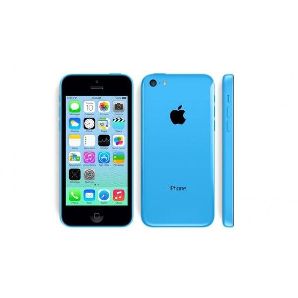 Apple iPhone 5c (GSM Unlocked) Blue 32 GB ($450) ❤ liked on Polyvore featuring electronics