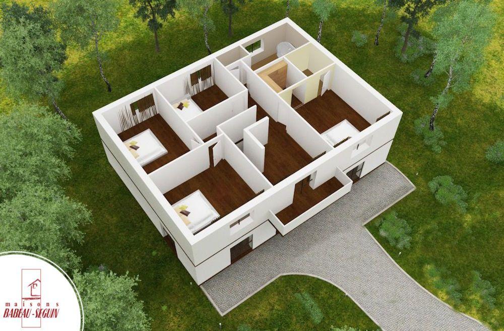 gentilhommiere haut plan maison 3D interieur homes Pinterest House - modele plan maison plain pied gratuit