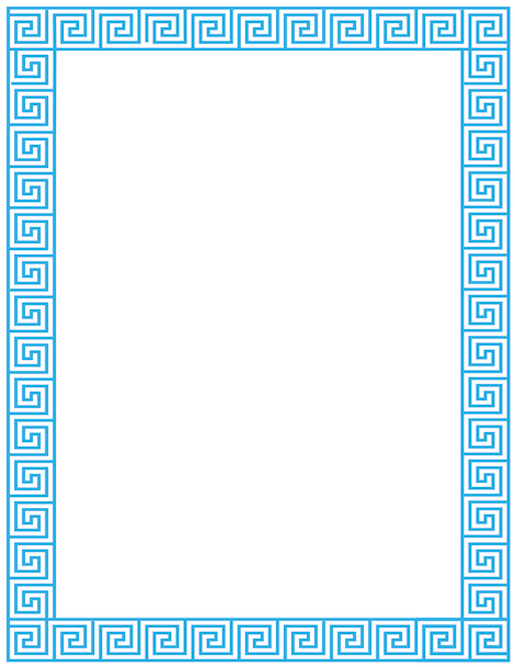 Pin by muse printables on page borders and border clip art for Greek flag template
