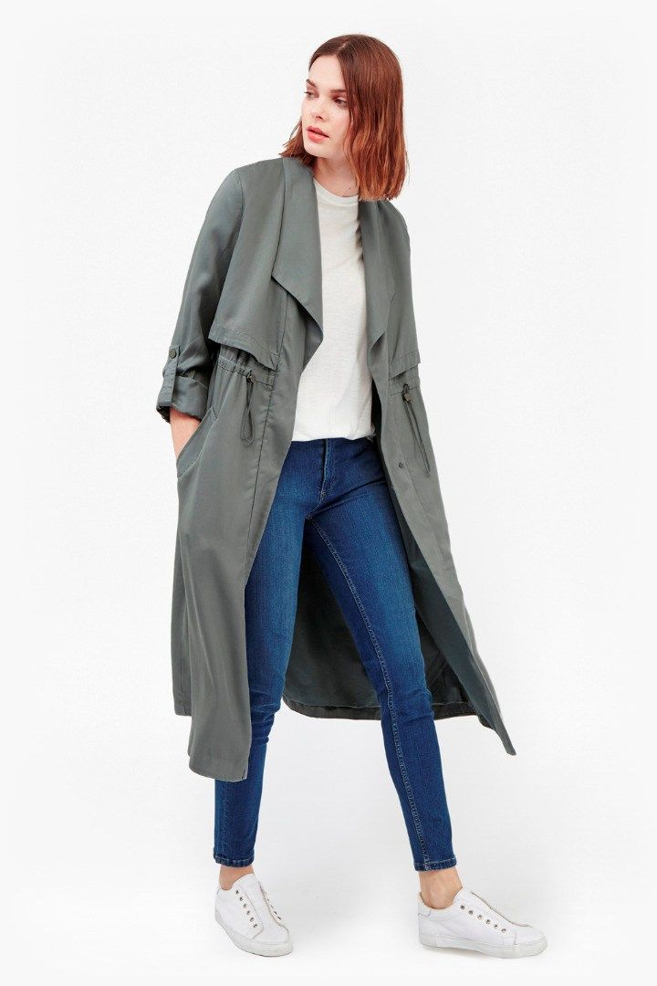 233bf0b1111 Kruger Tencel Oversized Trench Coat | Coats & Jackets | French Connection  Usa