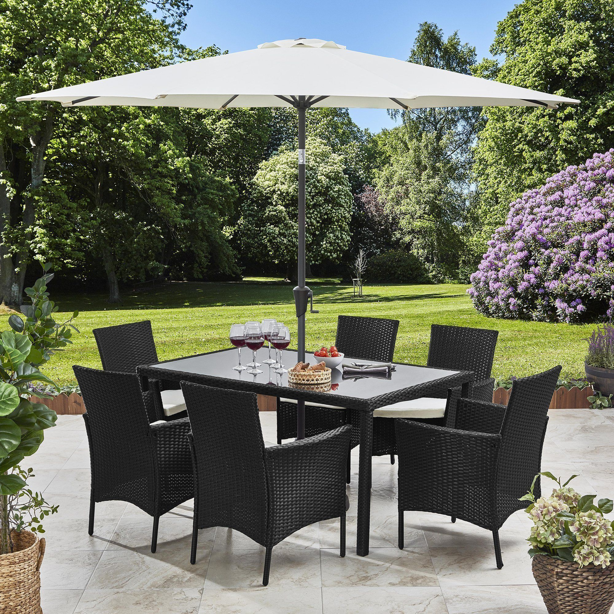 Set Da Pranzo In Rattan.Pre Order In Stock 01 03 May 6 Seater Rattan Dining Set With