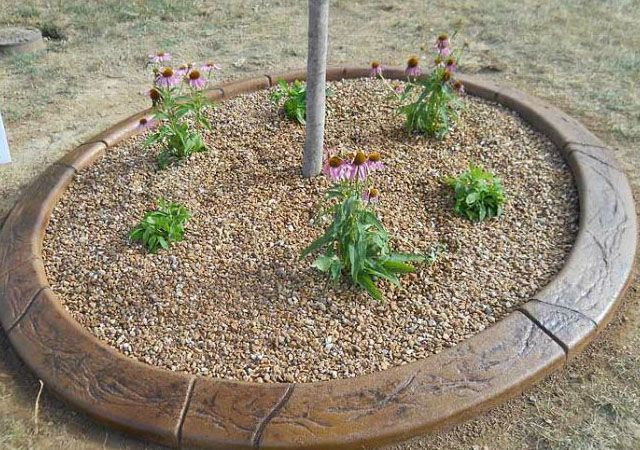 Home Affordable Outdoor Improvements Concrete Borders