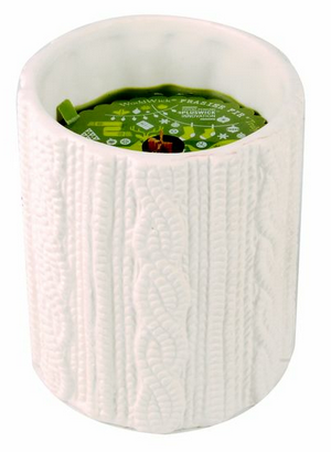 *Frasier Fir WoodWick Holiday Knit Ceramic Candle 11 oz