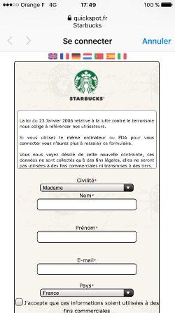 WiFi Starbucks