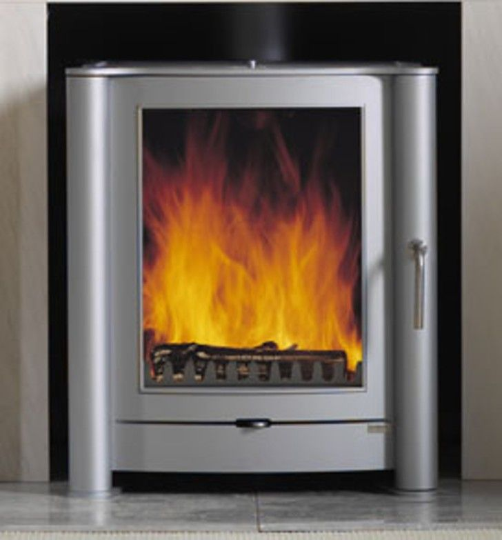 Amusing Flue Less Wood Burning Stoves: Astonishing Contemporary Silver Flue  Less Gas Fires Stoves ~