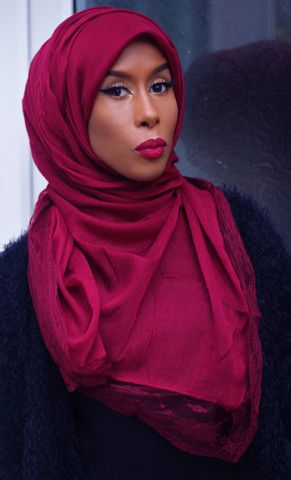 Burgundy Lace Hijab Ideas for the House