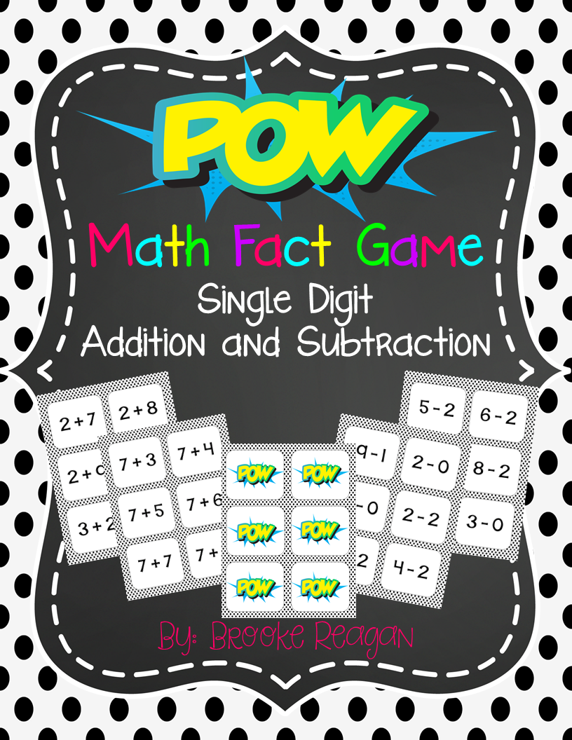 POW! A math fact game that your students will beg to play over and over again!