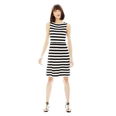 Joe Fresh Pleated Stripe Dress - JCPenney