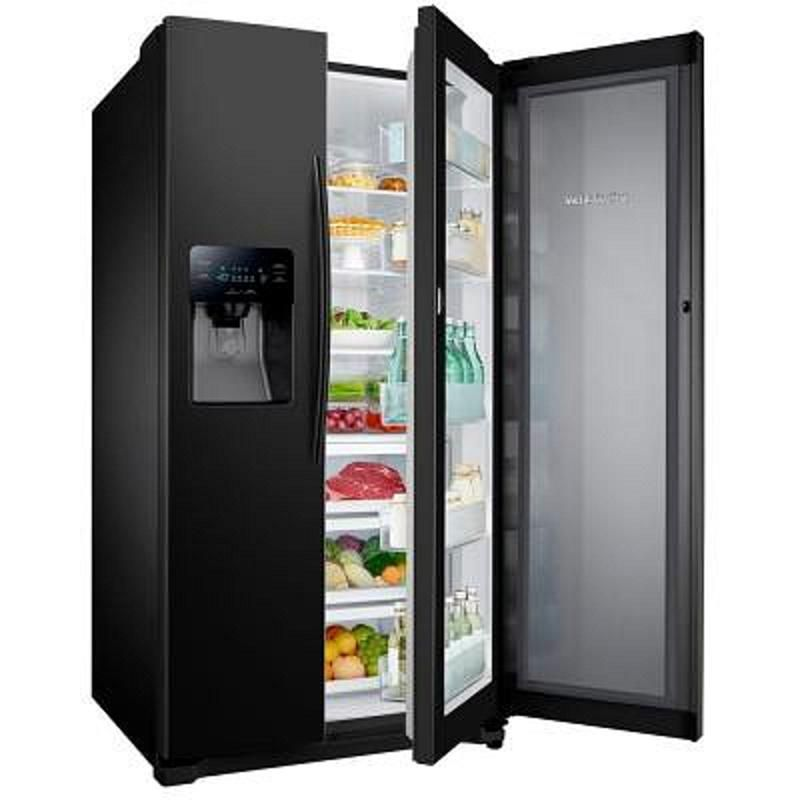 Samsung Rh25h5611bc 24 7 Cu Ft Side By Side Refrigerator With