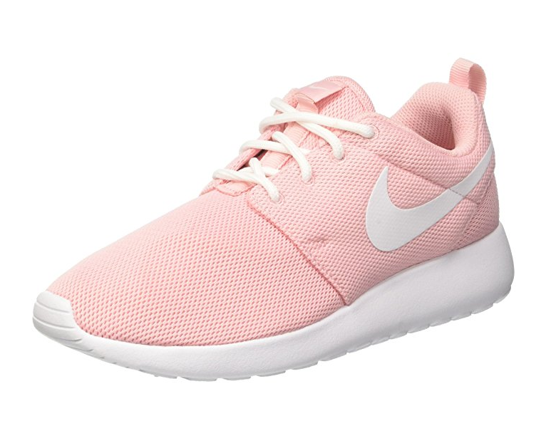 Perfectly pink Nike Roshe running shoes