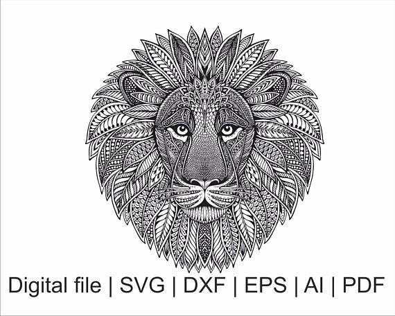 Download Lion svg, Lion zentangle, Mandala svg, Zentangle svg, Lion ...