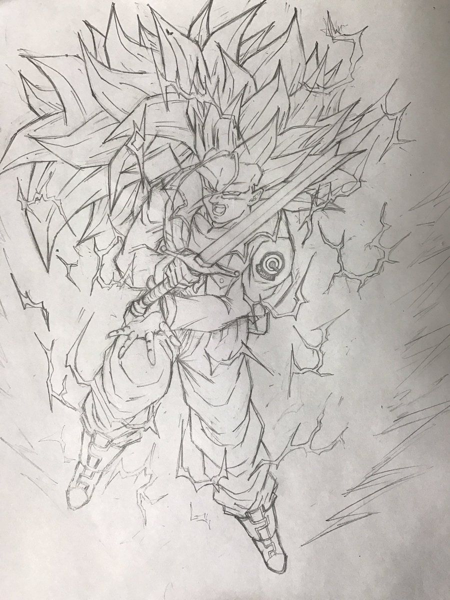Dessin Mirai No Trunks Dragon Ball Dragon Ball Z Dragon