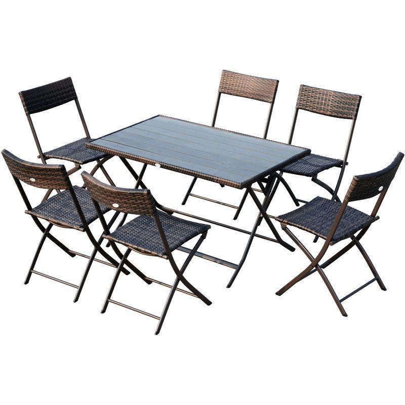 Ensemble salon de jardin 6 personnes grande table ...