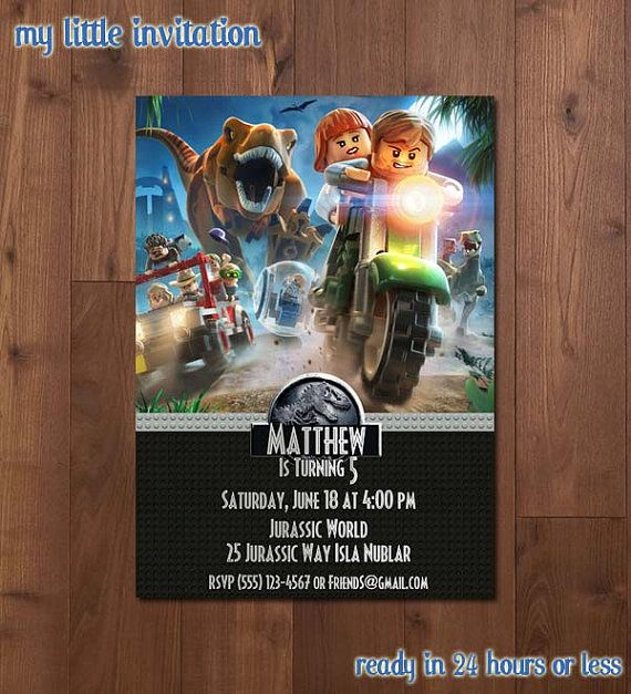 Lego jurassic world birthday party by mylittleinvitation on etsy lego jurassic world birthday party by mylittleinvitation on etsy gumiabroncs Gallery