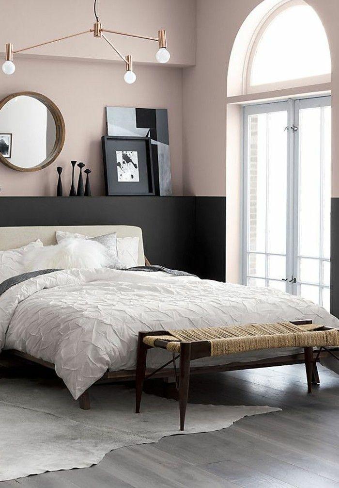 schlafzimmer ideen fellteppich und farbkontraste Schlafzimmer - schlafzimmer bilder ideen