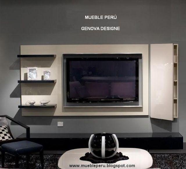Muebles tv modernos centros de entretenimiento tv mueble tv pinterest muebles muebles - Muebles para televisores modernos ...